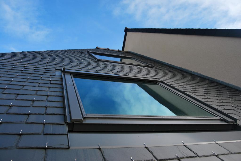 roof with velux window
